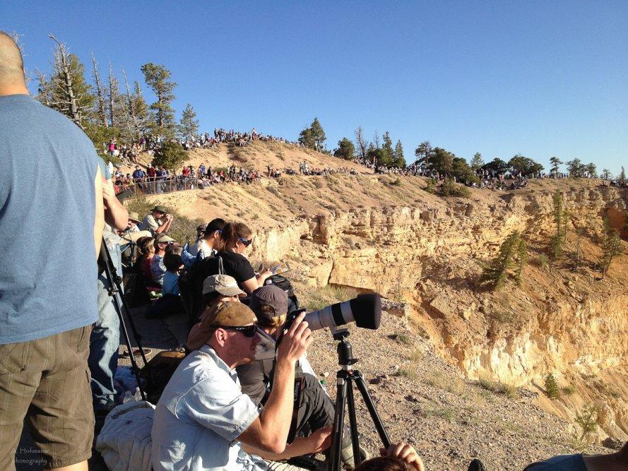 Menschenmassen am Bryce Point